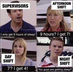 Night Shift Meme, Night Shift Nurse, Night Shift Quotes, Night Shift Problems, Medical Memes, Nursing Memes, Funny Nursing, Nursing Quotes, Dental Jokes