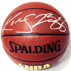 Kobe Bryant & LeBron James Hand Signed Autographed Full Size NBA Basketball w... by Spalding. $201.00. THIS IS A FULL SIZE SPALDING BASKETBALL AUTOGRAPHED BY BOTH KOBE BRYANT AND LEBRON JAMES. THIS BASKETBALL WAS HAND SIGNED BY BOTH PLAYER AND THE SIGNATURES ARE NOT PRINTS. EACH AUTOGRAPHED ITEM COMES WITH AN AUTHENTIC-GRAPH CERTIFICATE OF AUTHENTICITY AND MATCHING TAMPER-PROOF HOLOGRAM.
