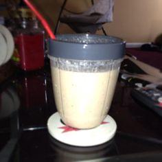 Apple/banana oatmeal smoothie with pb #healthy #delicious #breakfast #gettingskinny #nutribullet #nutriblast