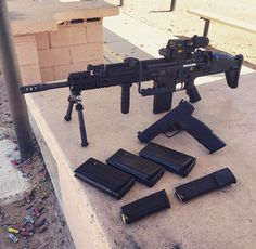 Scar 17 Eotech Magnifier FN FNH 5.7 30 round mag