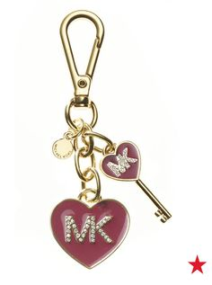 Michael Michael Kors MK enamel heart keychain —cute charms, a touch of gold, that MK style... what's not to love?