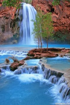 Blue Water, Havasupai Indian Reservation, Arizona. If all goes as planned, I will be here in the Fall!