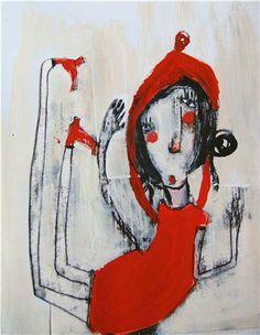 Dibujo para creación de personajes y su posterior traslado a Volumen. Técnica libre. Maite Rosende 2008.