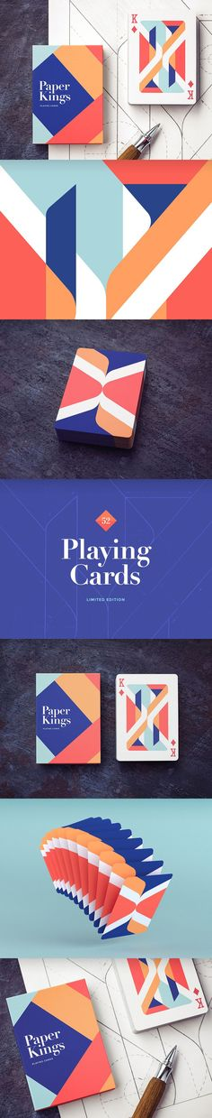Playing cards paper kings making of