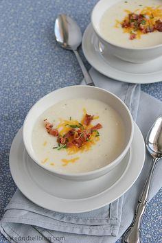 Slow Cooker Baked Potato Soup | Taste and Tell