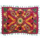 Milla Decoração & Design - Capa de Almofada Bordada Mandala Vermelha