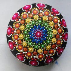 Hand painted mandala sphere 10/ Colorful ball by Mandalaole