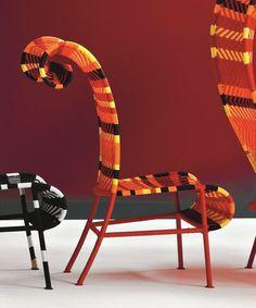 Bekennt Farbe: der Sunny Stuhl M' Afrique Collection von Moroso