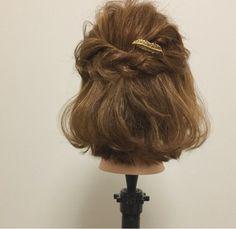 ゴム2つで完成♪『ボブのハーフアップアレンジ』 | ヘアアレンジ&セルフアレンジを楽しもう♪『mizunotoshirou』 Hair Arrange, Hair Setting, Short Wedding Hair, Hair Goals, Your Hair, Wedding Hairstyles, Short Hair Styles, Hair Beauty, Bride