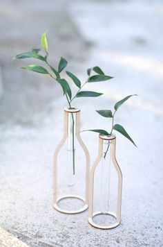 Wooden Silhouette Test Tube Vases: 6 Steps (with Pictures) Laser Cutter Projects, 3d Laser, Laser Cut Wood, Wooden Vase, Project Free, Small Rings, Easy Diy, Simple Diy, Easy Projects