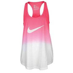Nike Dip Dye Swoosh Loose Tank – Women's – Pink Force Nike Shoes Cheap, Nike Free Shoes, Nike Shoes Outlet, Cheap Nike, Athletic Outfits, Athletic Wear, Athletic Tank Tops, Athletic Clothes, Tennis Clothes