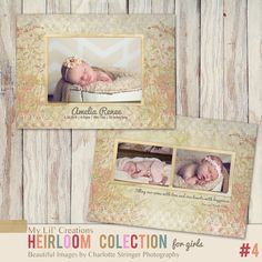 Heirloom Baby Templates www.mylilcreations.com