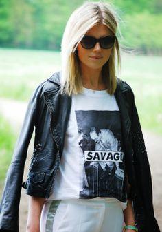Un look Rock & Chic pour la bloggeuse @Valerie Avlo Brems et son perfecto IKKS ! A shopper ici --> http://www.ikks.com/eshop/blouson-cuir/veste-en-cuir-femme/p2213731.html #SS14 #Fashion #ikks
