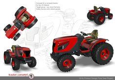 Tractor Design - Alias - Foam Sculpting by Samir Datta at Coroflot.com