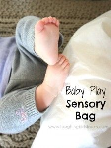 Baby play sensory activity using tin foil - Laughing Kids Learn