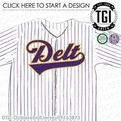 Delta Tau Delta | ΔΤΔ | Baseball Jersey | Intramural | Athletics | Brotherhood | Greek Life | Intramural Tee | Intramural Jersey | TGI Greek | Greek Apparel | Custom Apparel | Fraternity Tee Shirts | Fraternity Tanks | Fraternity T-shirts