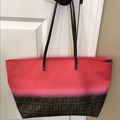 Authentic FENDI PINK OMBRÉ ZUCCA TOTE Gorgeous and SOLD OUT EVERYWHERE!!!   Large tote! Spectacular!!!!!! FENDI Bags Totes