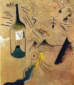 Bottle of Vine - Joan Miro