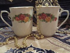 Regent China English Rose Coffe/The Cup by AntiquesandCoinsJL on Etsy