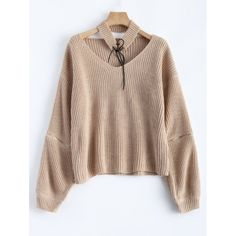 23.75$  Watch now - http://di0qw.justgood.pw/go.php?t=200713304 - Chunky Zipper Design Sweater with Knitted Choker