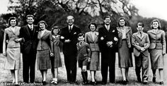 Political dynasty: Eunice Kennedy, John F. Kennedy, Rosemary Kennedy, Jean Ann Kennedy, Joseph P. Kennedy, Edward M. Kennedy, Rose Kennedy, Joseph P.Kennedy Jr, Patricia Kennedy, Robert F. Kennedy and Kathleen Kennedy are shown in a 1935 photo