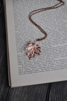Real wormwood leaf pendant electroformed botanical jewelry #stunningjewelry