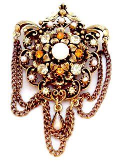 Florenza Vintage Stunning Rhinestone Pin by bitzofglitz4u on Etsy, $40.00