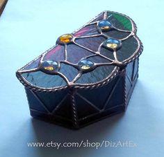 Box. Flower-Box of Stained Glass Handmade. Home decor. by DizArtEx