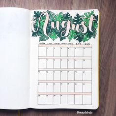 If you haven't guessed already, I LOVE Monsterra leaves! They've inspired my monthly spread for my bullet journal! What is your favourite plant? #bohoberrychallenge #monthlyspread #lcwelcomes_august