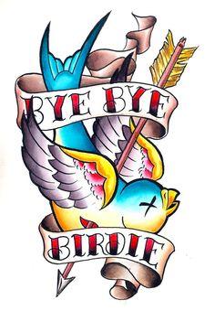Bye Bye birdie #tattoo #tattoossketch #sketch