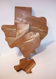 TEXAS 3 Pak  Cutting Cheese And Mini Boards by tomroche on Etsy