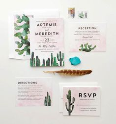 """Make it a hot romance. Get on the desert vibe with south western inspired wedding stationery from #Minted.  by @tarynwilliford. Design by @CassLoh. Shop…"""