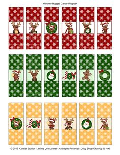 Digital Printable Holiday Hershey Nugget Candy by CooperStation
