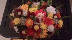 cestino di fiori in feltro
