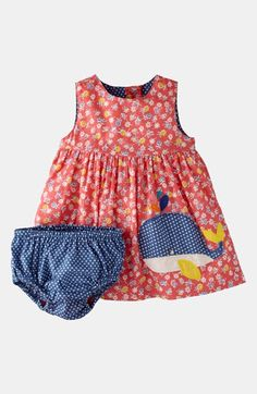 Mini Boden 'Printed Appliqué' Dress & Bloomers (Infant) available at #Nordstrom