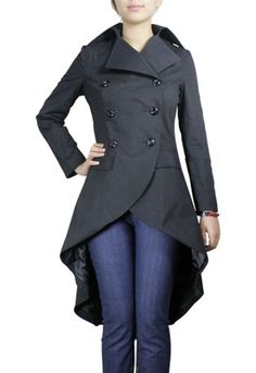 Gothic trench coat - front.