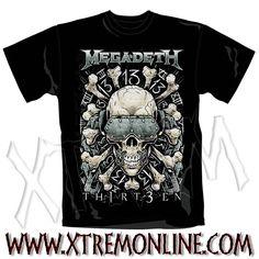 Echa un vistazo a nuestro merchadising de Megadeth y más grupos heavy y thrash metal. Camisetas, sudaderas... Productos en stock. Envíos inmediatos.