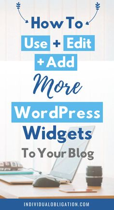 Learn how to use WordPress widgets to improve your blog + website with this WordPress for beginners tutorial guide. Learn everything you need to know about WordPress widgets from how to use, edit and add them to your WordPress blog theme + design. Plus the benefits of using them when starting a blog. Click here to find out how they can benefit your new blog #WordPressTips #HowToBlog #Blogging #BlogTips #WordPressWidgets #BloggingForBeginners | wordpress 101 | blogging tips and tricks | blog… Website Tutorial, Blog Logo, Wordpress Website Design, Blogging For Beginners, Blog Tips, Wordpress Theme, Wordpress Plugins, Benefit, Earring Holders