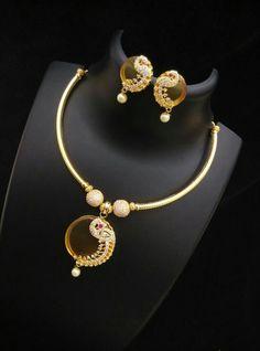 Shop designer necklace @ www.inventjewel.com Gold Mangalsutra Designs, Gold Jewellery Design, Gold Pendent, Pendant Set, Engagement Jewelry, Wedding Jewelry, Gold Jewelry Simple, Jewellery Sketches, Ganesha