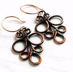 Wire+Jewelry+Motif+Design+Antiqued+Copper+Jewelry+by+KariLuJewelry,+$23.50