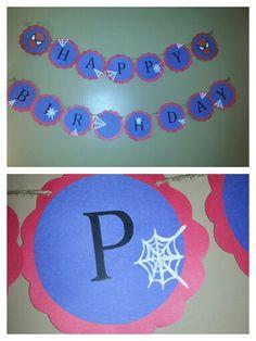 Hand made Spider-Man birthday banner