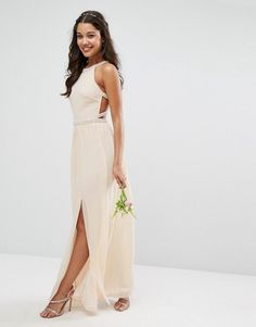 TFNC | TFNC WEDDING Embellished Maxi Dress with Embellished Strappy Back