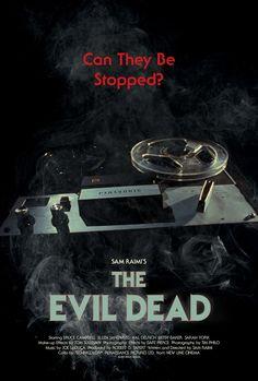 The Evil Dead by Silver Ferox Design Horror Movie Posters, Cinema Posters, Movie Poster Art, Horror Films, Evil Dead Trilogy, Evil Dead Series, Evil Dead 1981, Ash Evil Dead, Cult Movies