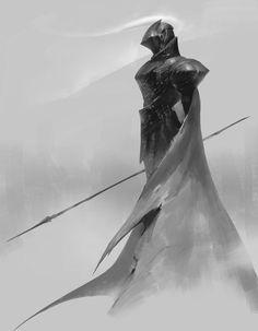 Sir Loran Gaald - Mid Rank Paladin of Valshnum, Guardian of Galdoran, Tester of Faith and Will Fantasy Warrior, Dark Fantasy Art, Fantasy Artwork, Armor Concept, Concept Art, Fantasy Character Design, Character Art, Fantasy Inspiration, Character Inspiration