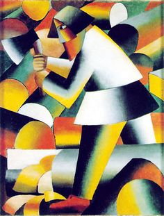 The Woodcutter by Kasimir Malevich