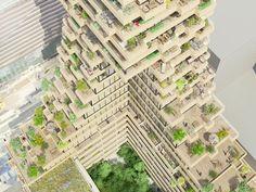 gershwin (plot 14) by NL architects, designed for amsterdam's zuidas CBD development, netherlands
