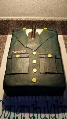 Army dress grooms cake