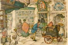 Anton Pieck was a Dutch painter and graphic artist. The work of Anton Pieck contains paintings in oil and watercolour, etchings. Illustration Arte, Anton Pieck, Dutch Painters, Dutch Artists, 3d Prints, Arabian Nights, Figure Painting, Contemporary Artists, Retro