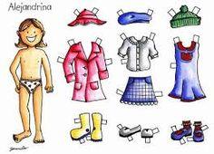 Resultado de imagen para prendas de vestir para niños para recortar