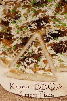 We love Korean Food. We love pizza. Therefore, Korean BBQ & Kimchi Pizza. It's math.
